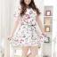 พรีออเดอร์ ชุดเดรสแฟชั่นเกาหลีใหม่ ลายนกน้อย สายหนัง แบบเก๋ น่ารัก สำหรับผู้หญิงไซส์ใหญ่ - Preorder New Korean Fashion Colored Bird Pattern Dress with Belt for Large Size Woman thumbnail 1