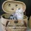 กระเป๋าหวายใส่สัตว์เลี้ยง ตะกร้าหวายใส่สุนัข-แมว แบบเปิดฝาบน thumbnail 1