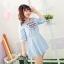 [พรีออเดอร์] ชุดเดรสแฟชั่นเกาหลีใหม่ แบบเก๋ น่ารัก สำหรับผู้หญิงไซส์ใหญ่ - [Preorder] New Korean Fashion Dress for Large Size Woman thumbnail 1