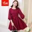 [พรีออเดอร์] เสื้้อเดรสลูกไม้แฟชั่นเกาหลีใหม่ ใส่ไปงานได้ สำหรับผู้หญิงไซส์ใหญ่ - [Preorder] New Korean Fashion Lace Dress for Large Size Woman thumbnail 1