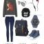 Back pack(กระเป๋าเป้ สะพายหลัง) BA005 สีน้ำเงิน พร้อมส่ง thumbnail 14