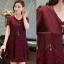 [พรีออเดอร์] เสื้้อเดรสแฟชั่นเกาหลีใหม่ แขนสั้น สำหรับผู้หญิงไซส์ใหญ่ - [Preorder] New Korean Fashion Dress Short-Sleeved for Large Size Woman thumbnail 1