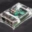 RPI3 Box case shell generation B+ /Pi 2/Pi 3 acrylic shell latest box + 2 heat sinks thumbnail 1