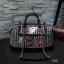 """กระเป๋าสะพายใบใหญ่ สไตล์ Chanel travel tweed bag สินค้านำเข้า กระเป๋าผ้า tweed สไตล์ Chanel coco สวยหรูมีสไตล์มาก ใบใหญ่ ด้านในกว้างมีช่องใส่ของ แยก จะใช้เป็นกระเป๋าถือหรือสะพายก็สวยเก๋ น้ำหนักกำลังดี ดูไฮโซ งานพรีเมียม Size 14 x 8.5"""" thumbnail 1"""
