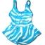 ชุดว่ายน้ำ สีฟ้า-ขาว ลายม้าลาย 4T thumbnail 1