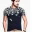 [พรีออเดอร์] เสื้อยืดแฟชั่นอเมริกา และยุโรปสไตล์ สำหรับผู้ชาย แขนสั้น เก๋ เท่ห์ - [Preorder] Men American and European Hitz Style Slim Short-Sleeved T-Shirt thumbnail 1