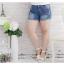 [พรีออเดอร์] กางเกงยีนส์ ขาสั้น เท่ห์ ๆ สำหรับผู้หญิงไซส์ใหญ่พิเศษ - [Preorder] Jeans for Large Size Women thumbnail 1