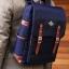 Back pack(กระเป๋าเป้ สะพายหลัง) BA005 สีน้ำเงิน พร้อมส่ง thumbnail 1