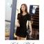 [พรีออเดอร์] ชุดเดรสผู้หญิงแฟชั่นเกาหลีใหม่สีดำ แขนสั้น แบบเก๋ เท่ห์ - [Preorder] New Korean Fashion Short-sleeved Black Casual Dress thumbnail 1