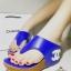 รองเท้าแฟชั่น Chanel ส้นเตารีด หนังนิ่มเนียน เรียบหรู แต่ง CC ที่ส้น พื้นบุนุ่ม สวมใส่สบาย thumbnail 1