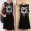 [พรีออเดอร์] ชุดเดรสผู้หญิงแฟชั่นยุโรปใหม่ แขนกุด พิมพ์หน้าแมว กระโปรงสั้น แบบเก๋ เท่ห์ - [Preorder] New European Fashion Printed Blue-eyed Cat Sleeveless Dress thumbnail 1