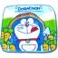ผ้าเช็ดหน้า สีฟ้า ลาย Doraemon กับแครอท thumbnail 1