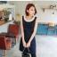 [พรีออเดอร์] เสื้อเดรสแฟชั่นไซต์ใหญ่ Orange Bear แขนกุด คอกลม ปักมุกรอบคอ เก๋ น่ารัก - [Preorder] Women ฺHitz Large Size Korean version Brand Orange Bear Dress Round Neck Sleeveless Embroider Pearl thumbnail 2