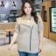**พรีออเดอร์** เสื้้อแฟชั่นเกาหลีใหม่ แขนยาว สำหรับผู้หญิงไซส์ใหญ่ / **Preorder** New Korean Fashion Shirt Long-Sleeved for Large Size Woman thumbnail 1