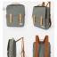 Back pack Use House (กระเป๋าเป้ สะพายหลัง) BA018 สีเทา พร้อมส่ง thumbnail 3
