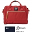 Large Anello Shoulder Boston Bag (สีแดง) thumbnail 1