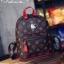 กระเป๋าเป๋แฟชั่น สไตล์ LV Leather Backpack หนัง pu เนื้อดี พิมพ์ลายสไตล์แบรนด์ ดีไซน์ทันสมัย แต่งขอบสีสันตัดกับตัวกระเป๋าดูดีโดดเด่น พร้อมแต่งป้ายโลโก้สีเมทัลลิค เงาล้อมเพชรวิ้งๆ น่ารักมาก ด้านในโล่งกว้าง มีช่องใส่ของซ้ายขวาและช่องซิปด้านนอก วัสดุอย่างดี  thumbnail 1