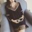 [พรีออเดอร์] เสื้้อเดรสแฟชั่นเกาหลีใหม่ สำหรับผู้หญิงไซส์ใหญ่ - [Preorder] New Korean Fashion Dress for Large Size Woman thumbnail 1