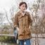 [พรีออเดอร์] เสื้้อกันหนาวพร้อมฮู๊ด แฟชั่นเกาหลีใหม่ สำหรับผู้หญิงไซส์ใหญ่ - [Preorder] New Korean Fashion Autumn Shirt for Large Size Woman thumbnail 2