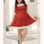 [พรีออเดอร์] เสื้อแฟชั่นเกาหลี เสื้อ กระโปรงลายจุด แขนและคอเสื้อ ประดับด้วยลูกไม้สวย หวาน สำหรับสาวอวบ - [Preorder] Korean Fashion Large Size Dress Polka Dot in Beautiful and Chic Style, Romantic Lace Trim thumbnail 1