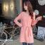 [พรีออเดอร์] เสื้อเดรสแฟชั่น Orange Bear แขนยาว คอกลม เก๋ น่ารัก - [Preorder] Women ฺHitz Korean version Orange Bear of Round Neck Long-sleeved Dress thumbnail 1