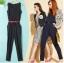 **พรีออเดอร์** ชุดเดรสกางเกงผู้หญิงแฟชั่นยุโรปใหม่ แขนกุด แบบเก๋ เท่ห์ / **Preorder** New European Fashion Slim Sleeveless Pants Dress thumbnail 1