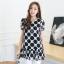 [พร้อมส่ง] เสื้้อแฟชั่นเกาหลีใหม่ สีขาว ดำ แขนสั้น สำหรับผู้หญิงไซส์ใหญ่ ไซส์ XL- [In Stock] New Korean Fashion Shirt Short-Sleeved for Large Size Woman thumbnail 3
