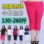 [พร้อมส่ง] กางเกงสามส่วน 6XL เอว 51.18 นิ้ว สำหรับสาวหนัก 115-130 กก. ใส่สบาย สำหรับผู้หญิงไซส์ใหญ่พิเศษ สีดำ - [In Stock] Thin Casual Pants for Large Size Women, ฺBlack Color thumbnail 1
