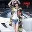 [พรีออเดอร์] เสื้้อเดรสคลุมแฟชั่นเกาหลีใหม่ สำหรับผู้หญิงไซส์ใหญ่ - [Preorder] New Korean Fashion Dress for Large Size Woman thumbnail 5