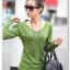 **พรีออเดอร์** เสื้้อยืดแฟชั่นเกาหลีใหม่ แขนยาว คอวี น่ารักสำหรับผู้หญิงไซต์ใหญ่ / **Preorder** New Korean Fashion Long-Sleeved V Neck for Large Size Woman T-Shirt thumbnail 1