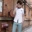 พรีออเดอร์ เสื้อเชิ้ตแฟชั่นเกาหลีสำหรับผู้ชาย แขนสั้น เก๋ เท่ห์ - Preorder Men Korean Hitz Slim Short-sleeved Shirt thumbnail 2