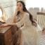 [พรีออเดอร์] ชุดเดรสผู้หญิงแฟชั่นเกาหลีใหม่ แขนยาว ลูกไม้ แบบเก๋ เท่ห์ - [Preorder] New Korean Fashion Slim Round Neck Lace Long-sleeved Dress thumbnail 1