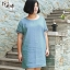 พรีออเดอร์ เดรสแฟชั่นเกาหลี ผ้า คอตตอน คอกลม ไซส์ใหญ่ สำหรับสาวอ้วนไซส์ใหญ่มาก 2XL-8XL แขนสั้น - Preorder Women Korean Hitz New Extra Large Size Short-Sleeved Cotton Dress Size 2XL-8XL thumbnail 1