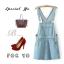 **พรีออเดอร์** ชุดเดรสยีนส์ผู้หญิงแฟชั่นยุโรปใหม่ แขนกุด แบบเก๋ เท่ห์ / **Preorder** New European Fashion Sleeveless Denim Dress thumbnail 1