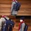 Back pack(กระเป๋าเป้ สะพายหลัง) BA005 สีน้ำเงิน พร้อมส่ง thumbnail 3