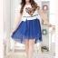 พรีออเดอร์ แฟชั่นเกาหลีใหม่ เสื้อพิมพ์ลาย กระโปรงผ้าชีฟอง แบบเก๋ น่ารัก สำหรับผู้หญิงไซส์ใหญ่ - Preorder New Korean Fashion Lovely Shirt with Chiffon Skirt for Large Size Woman thumbnail 1