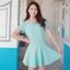 [พรีออเดอร์] ชุดเดรสผู้หญิงแฟชั่นเกาหลีใหม่ แบรนด์ Bluearly แขนสั้น คอกลม แบบหวานเก๋ - [Preorder] New Korean Fashion Bluearly Brand Slim Round Neck Short-sleeved Chiffon Dress thumbnail 1