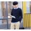พรีออเดอร์ เสื้อกันหนาวแฟชั่นเกาหลีสไตล์ สำหรับผู้ชาย แขนยาว เก๋ เท่ห์ - Preorder Men Korean Hitz Style Slim Long-sleeved Sweater thumbnail 1