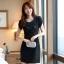 [พรีออเดอร์] ชุดเดรสผู้หญิงแฟชั่นเกาหลีใหม่สีดำ แขนสั้น ลูกไม้ แบบเก๋ เท่ห์ - [Preorder] New Korean Fashion Slim Round Neck Lace Short-sleeved Black Dress thumbnail 1