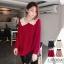 [พรีออเดอร์] เสื้้อกันหนาวแฟชั่นเกาหลีใหม่ แบบเก๋ สำหรับผู้หญิงไซส์ใหญ่ - [Preorder] New Korean Fashion Autumn Shirt for Large Size Woman thumbnail 1