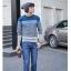 พรีออเดอร์ เสื้อกันหนาวไหมพรมแฟชั่นอเมริกา และยุโรปสไตล์ สำหรับผู้ชาย แขนยาว เก๋ เท่ห์ - Preorder Men American and European Hitz Style Slim Long-sleeved Sweater thumbnail 1