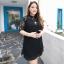 [พรีออเดอร์] เสื้อเดรสแฟชั่นเกาหลี แขนสั้น ลูกไม้ ไซส์ใหญ่ สำหรับสาวอ้วนวัยทีน สุดชีค - [Preorder] Women Korean Hitz New Lace Short-Sleeved Large Size thumbnail 1