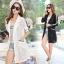 [พรีออเดอร์] เสื้้อเดรสคลุมลูกไม้ทั้งตัวแฟชั่นเกาหลีใหม่ สำหรับผู้หญิงไซส์ใหญ่ - [Preorder] New Korean Fashion Lace Dress for Large Size Woman thumbnail 1