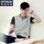 พรีออเดอร์ เสื้อโปโลแฟชั่นเกาหลี สำหรับผู้ชาย แขนสั้น เก๋ เท่ห์ - Preorder Men Korean Hitz Style Slim Short-sleeved Polo Shirt thumbnail 1