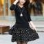 [พรีออเดอร์] ชุดเดรสผู้หญิงแฟชั่นเกาหลีใหม่สีดำ แขนยาว คอเสื้อลายดาว กระโปรงลายดอกไม้ แบบเก๋ เท่ห์ - [Preorder] New Korean Fashion Slim Stars Collar Short-sleeved Dress with Stars Skirt thumbnail 1