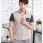 พรีออเดอร์ เสื้อเชิ้ตแฟชั่นเกาหลีสำหรับผู้ชาย แขนสั้น เก๋ เท่ห์ - Preorder Men Korean Hitz Slim Short-sleeved Shirt thumbnail 1
