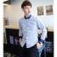 [พรีออเดอร์] เสื้อเชิ้ตทำงานแฟชั่นเกาหลีสำหรับผู้ชาย แขนยาว คอปกเล็ก เก๋ เท่ห์ - [Preorder] Men Korean Hitz Slim Long-sleeved Small Collar Shirt thumbnail 1