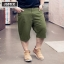 [พรีออเดอร์] กางเกงแฟชั่นเกาหลีผู้ชายไซต์ใหญ่ size 38 - 46 ขาสั้น - [Preorder] Plus size Men ฺKorean Hitz size 38 - 46 Short Casual Pants thumbnail 1