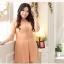 [พรีออเดอร์] เดรสแฟชั่นเกาหลีใหม่ สวยสง่าและสีหวาน แขนลูกไม้ สำหรับผู้หญิงไซส์ใหญ่ - [Preorder] New Korean Fashion Dress with Thin Lace in Long-Sleeve for Large Size Woman thumbnail 1