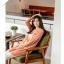 พรีออเดอร์ เสื้อแจ๊คเก็ตแฟชั่นไซต์ใหญ่ Orange Bear แขนยาว คอกลม ลายจุด เก๋ น่ารัก - Preorder Women ฺHitz Large Size Korean version Brand Orange Bear Round Neck Polka Dot Long-sleeved Jacket thumbnail 3